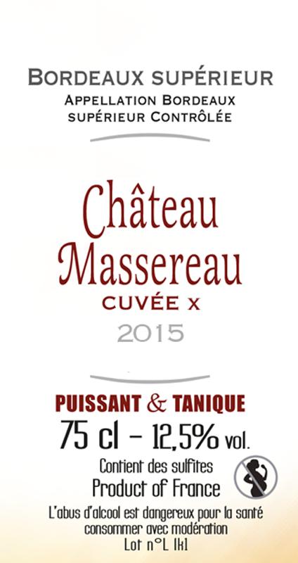 Château Massereau cuvée x 2015